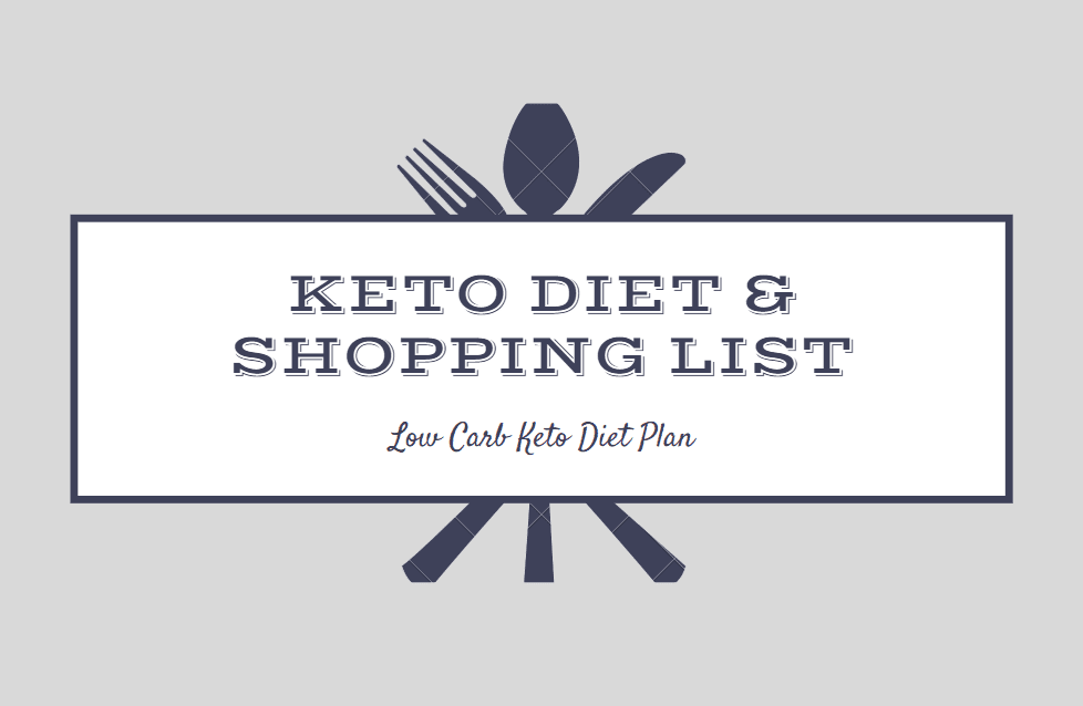 Low Carb Keto Diet Plan Keto Meal Shopping List She Began